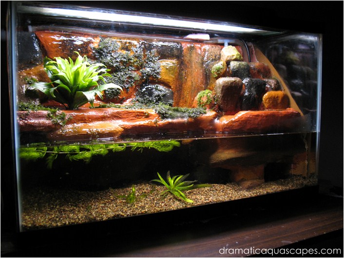 Dramatic AquaScapes - DIY Aquarium Background - Plateau and Waterfall