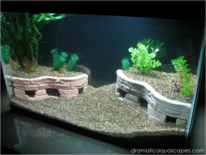 Dramatic aquascapes diy aquarium decore stone terraces for Aquarium decoration idea